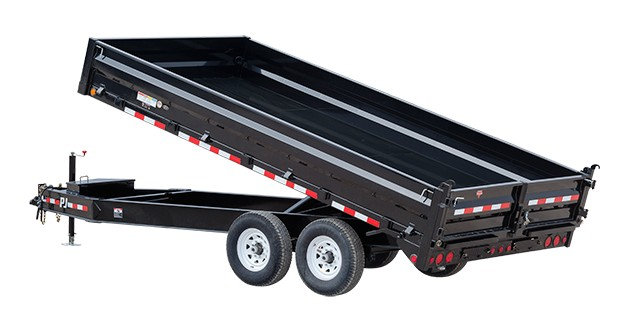 PJ Trailers 10 in. I-Beam Deckover Dump (DT)