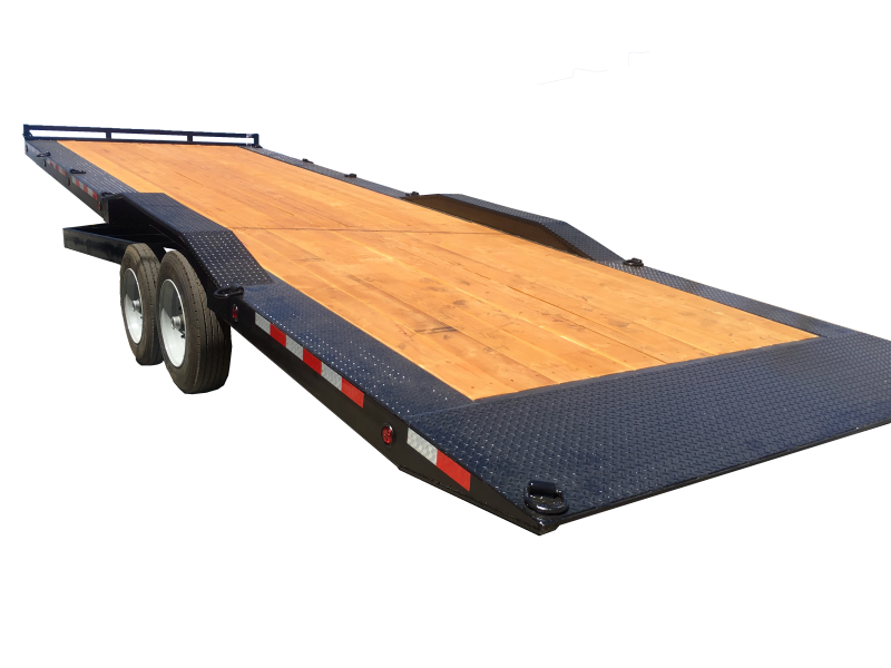 "R & J Trailers Inc 102"" x 28' 16K Tilt Bed Car Hauler"
