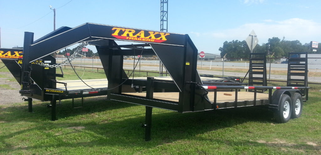 Traxx Trailers 14PT Heavy Duty Lowboy Gooseneck Pipe Top