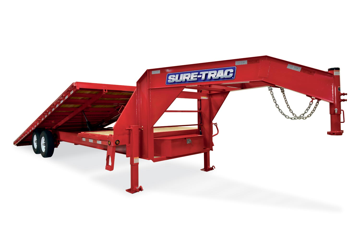 Sure-Trac 8.5 x 24 22.5K Gooseneck HD Low Pro Power Tilt Deckover