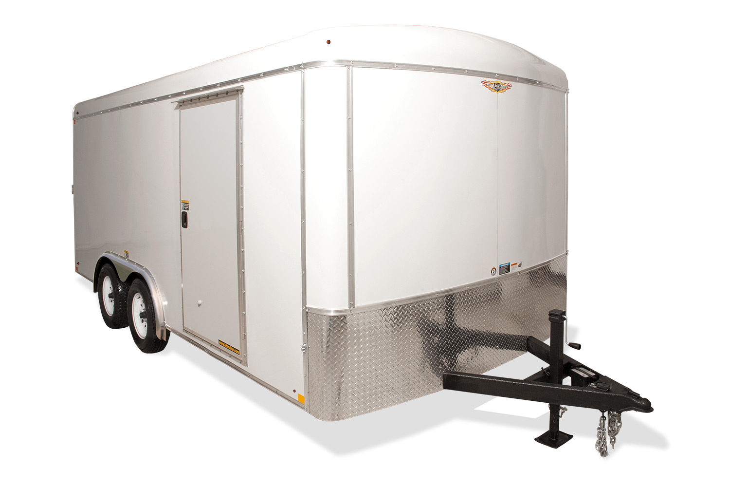 2019 H and H Trailer 8X18 TANDEM RND TOP HH VNOSE 10K CARGO
