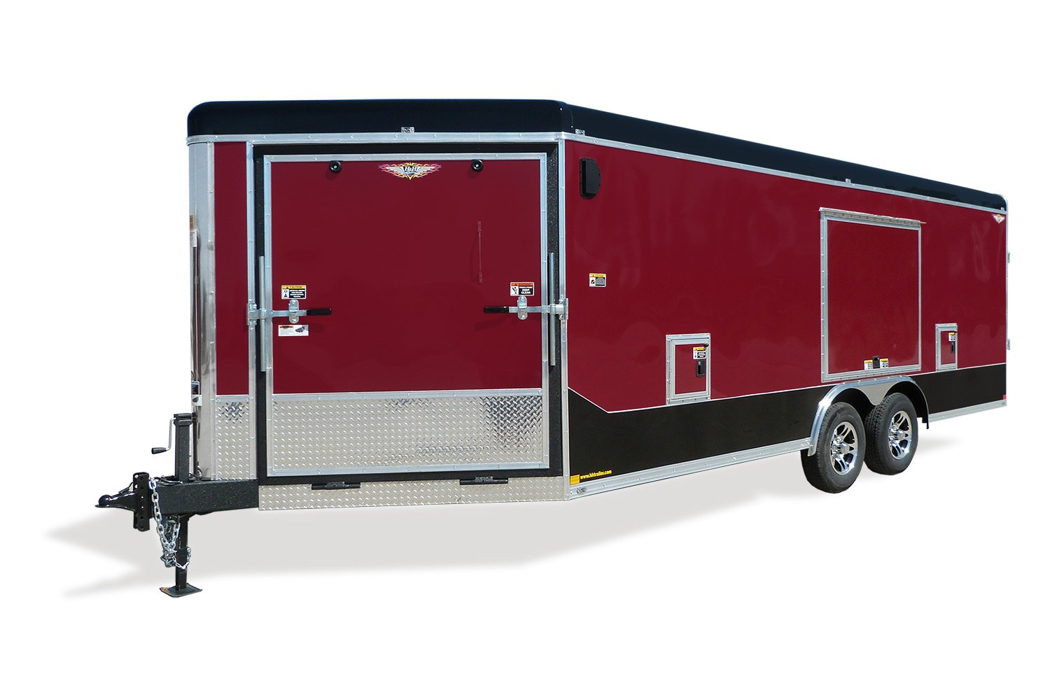 2020 H and H Trailer 101X20 RND TOP COMBO SLED NOSE 10K CARGO