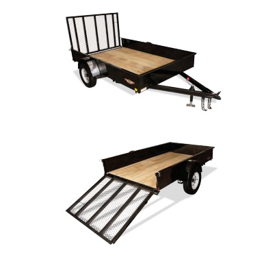 2019 H and H Trailer 8X10 STEEL SOLID SIDE 3.5K