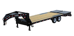 PJ Trailers Low-Pro Flatdeck with Singles (LS)