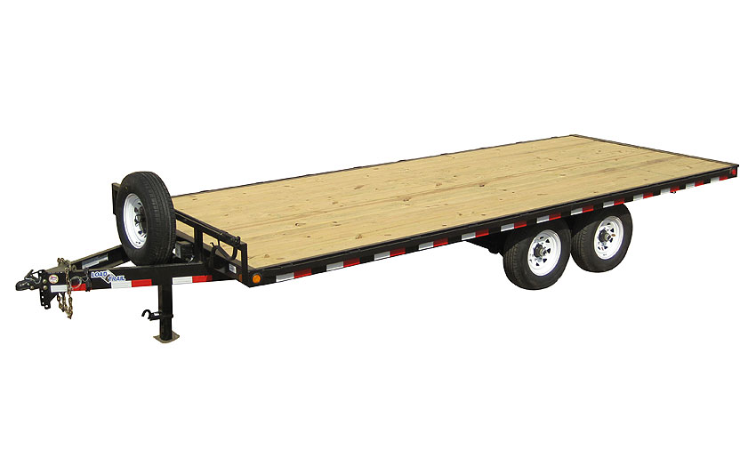 "2019 Load Trail 102"" X 20' 14K Deck Over Pintle Hook Equipment Trailer"