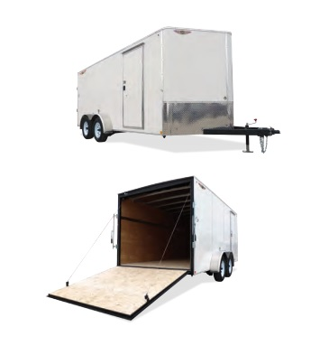 2019 H and H Trailer 7X18 TANDEM FLAT TOP HH VNOSE 7K CARGO