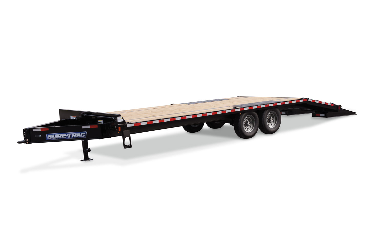 Sure-Trac 8.5 x 20 + 5 22.5K Heavy Duty Low Profile Beavertail Deckover