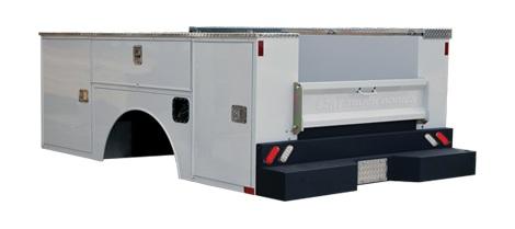 CM Truck Beds SBA Aluminum Service Body