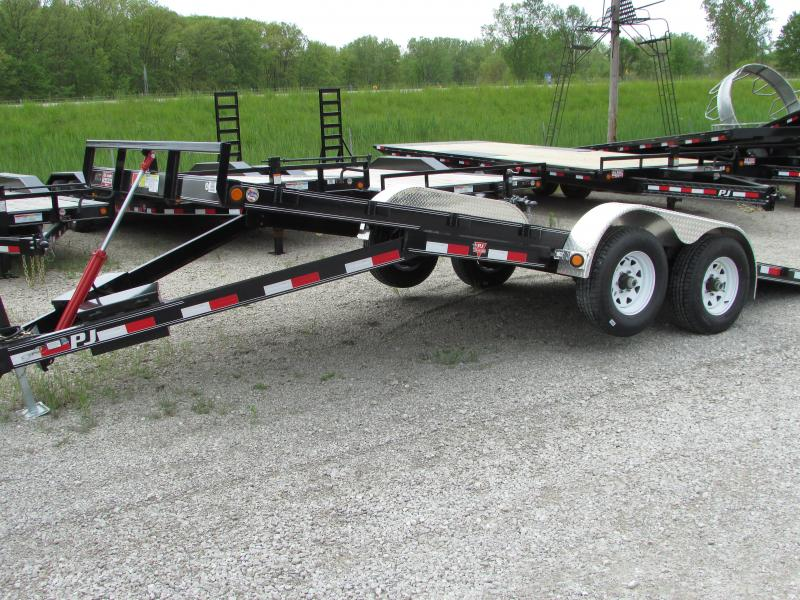 2018 PJ Trailers PJ 20 Full Power Tilt Equipment Trailer