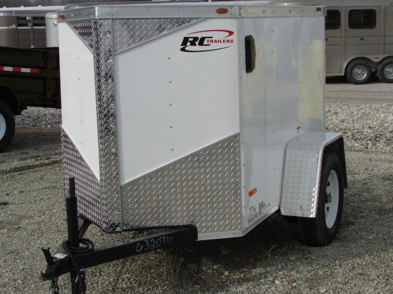 2018 RC Trailers 4 X 6 V NOSE Enclosed Cargo Trailer