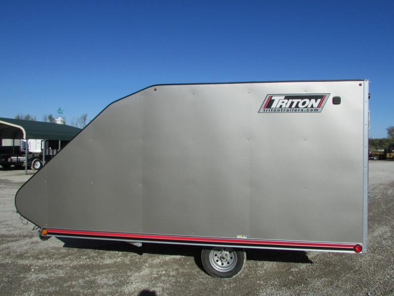 2019 Triton Trailers TC 12' Hybrid Snowmobile Trailer W/Cover