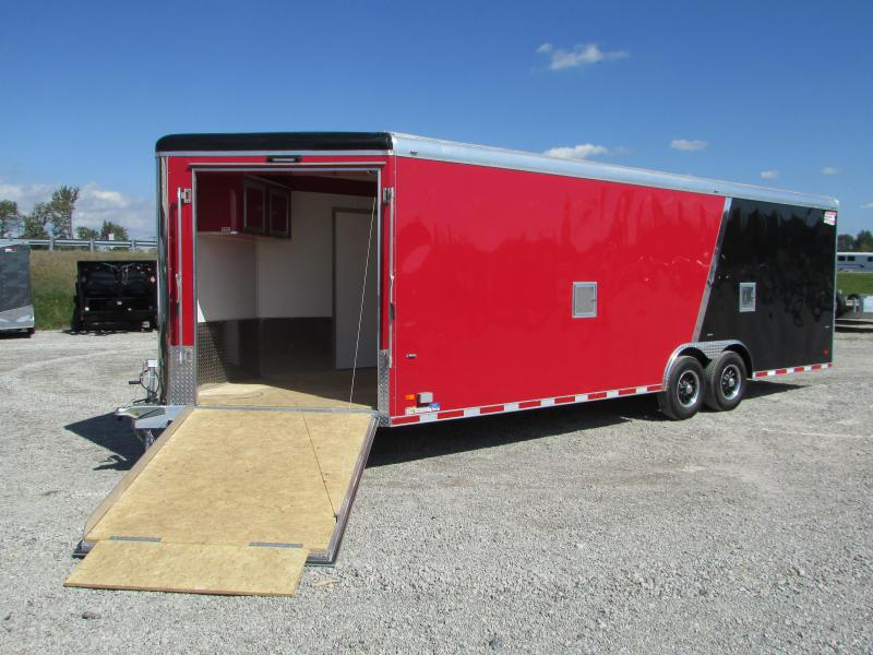 2019 American Hauler 28' Enclosed Snowmobile Carhauler Trailer