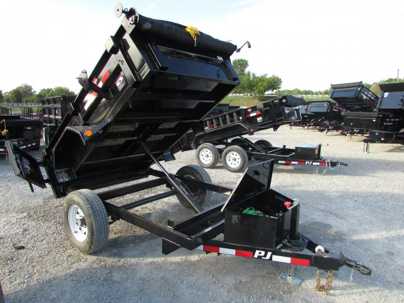 2018 PJ Trailers 5 x 8 Single Axle Dump Trailer
