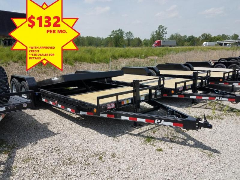 2019 PJ Trailers 20 Equipment Tilt Flatbed Trailer