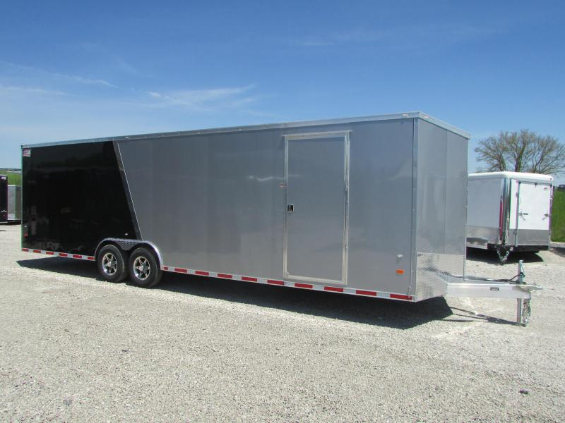 AMERICAN HAULER 28' ALUMINUM ENCLOSED CARHAULER TRAILER