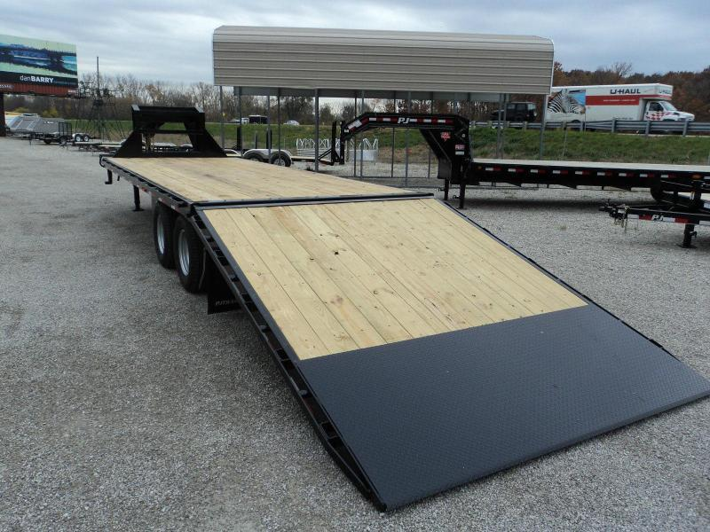 2018 PJ Trailers 36 HYDRAULIC DOVETAIL GOOSENECK Equipment Trailer