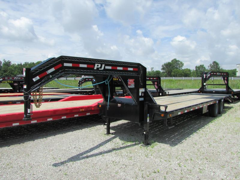 2020 PJ Trailers 29 ft Gooseneck Power Tail Equipment Trailer
