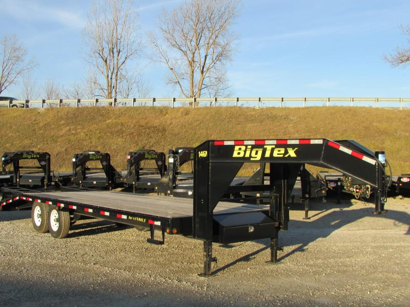 2018 Big Tex Trailers 25' Flatbed Gooseneck Trailer