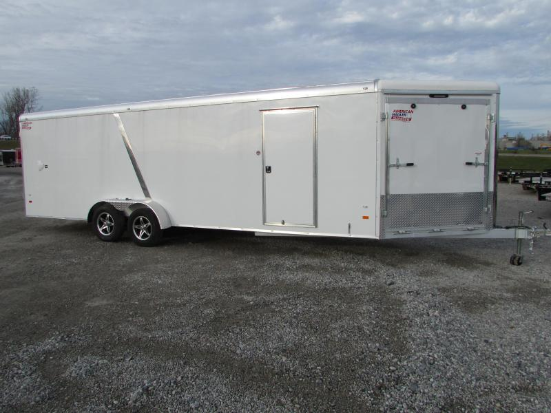 2018 American Hauler Industries 7 X 29 Aluminum Snowmobile Enclosed Cargo Trailer