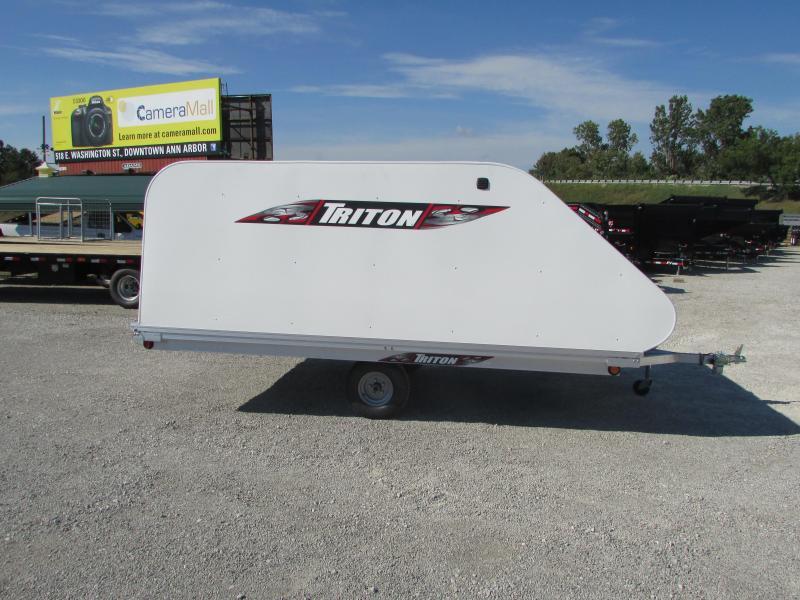 2018 Triton Trailers XT 12 Tlt Style 4x4 Door Snowmobile Trailer