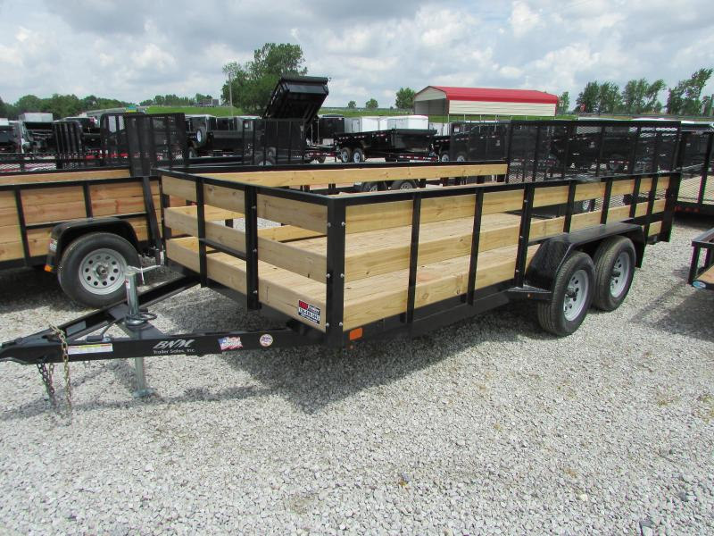 2019 Custom Fab 16 ft BNM 4 Board Landscape Utility Trailer