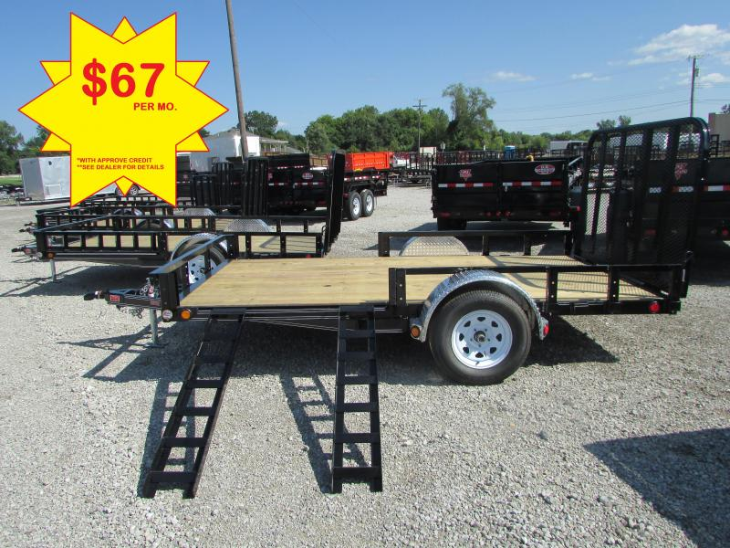 2019 PJ Trailers 12 FT Landscape Utility Trailer BEST DEALS @ DR Trailer