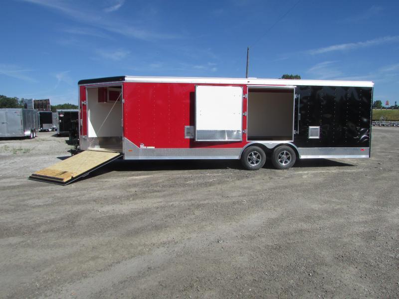 2019 RC Trailers 27' Combo Car Snowmobile Enclosed Trailer