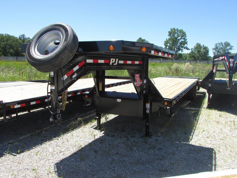 2019 PJ Trailers 35 ft Goseneck Monster Ramps Flatbed Trailer