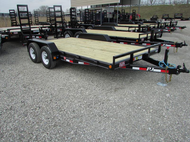 2019 PJ Trailers 16 Skidsteer Equipment Trailer