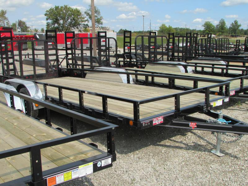 2018 PJ Trailers 16 ft Landscape Commercial Grade Flatbed Trailer