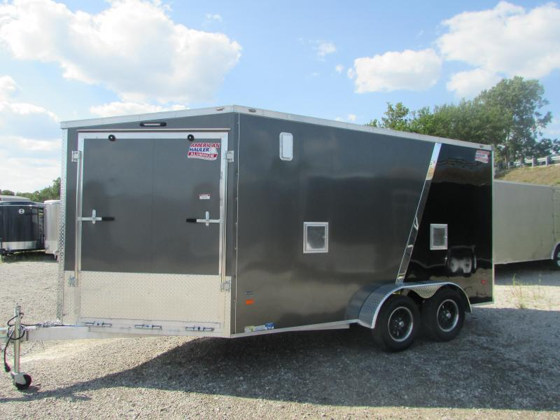 2018 American Hauler Industries 7 X 19 Snowmobile Enclosed Cargo Trailer
