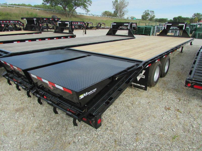 2019 PJ Trailers 30 ft Monster Ramps Gooseneck Flatbed Trailer