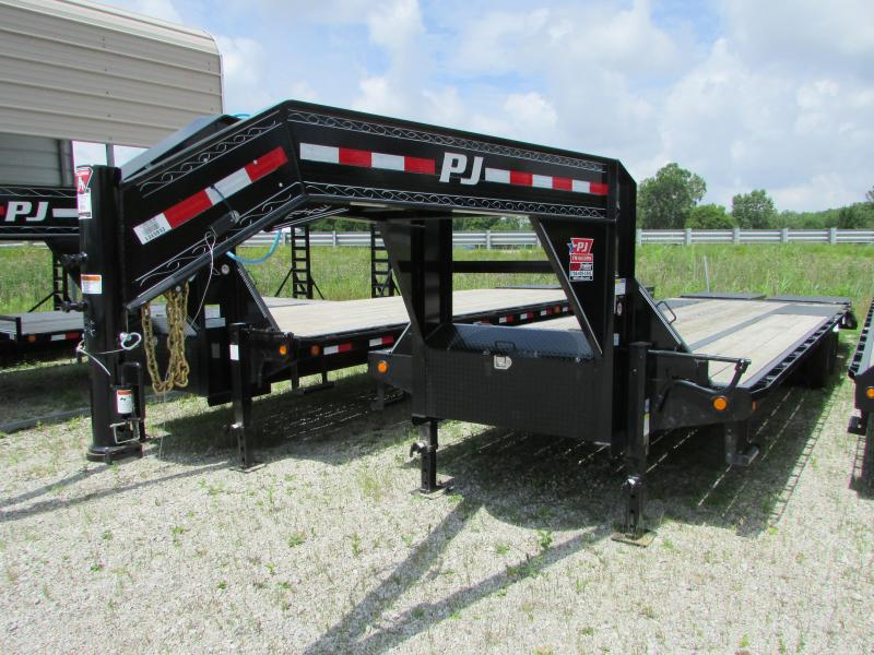 2020 PJ Trailers 30 ft Low Profile Gooseneck Equipment Trailer