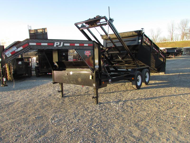 2018 PJ Trailers 14 Roll Off Gooseneck Dump Trailer