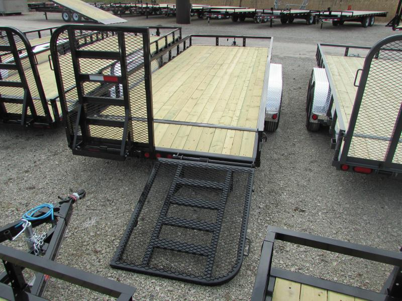 2018 PJ Trailers 20 ft Landscape Commercial Grade Flatbed Trailer