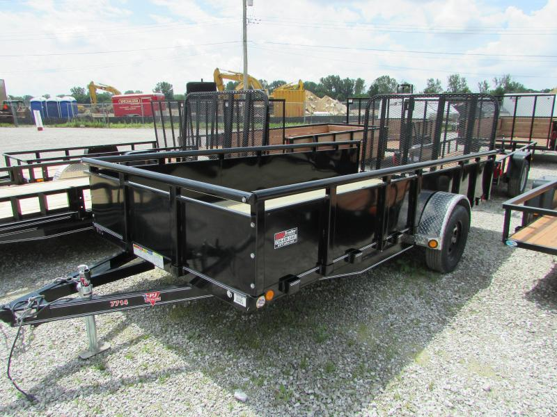 2019 PJ Trailers 14 High Side Landscape Utility Trailer