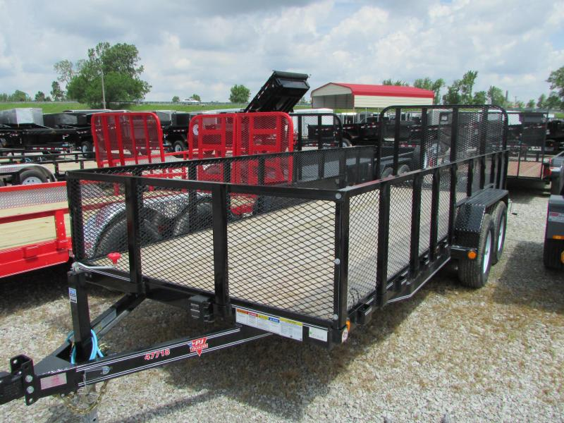 2019 PJ Trailers 18 ft Mesh Side Landscapev Utility Trailer