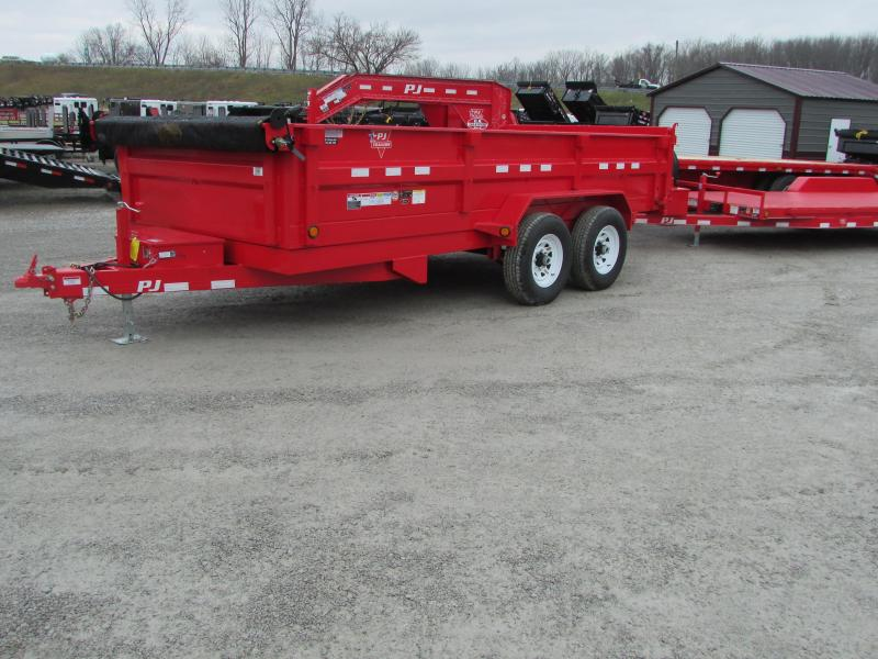 2018 PJ Trailers 16 RED Dump Trailer