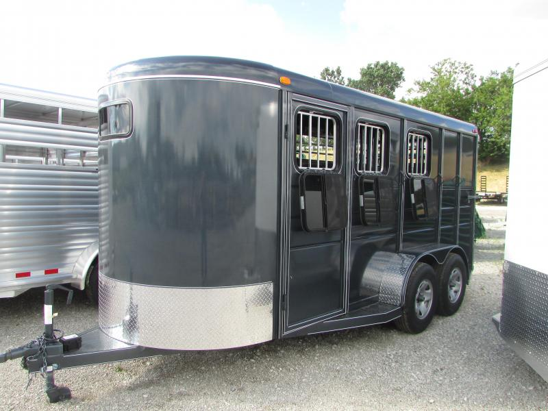2017 Calico Trailers 3 Horse Slant Load Horse Trailer