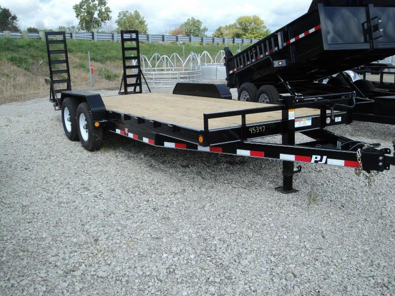 2018 PJ Trailers 20 Equipment Flatbed Trailer