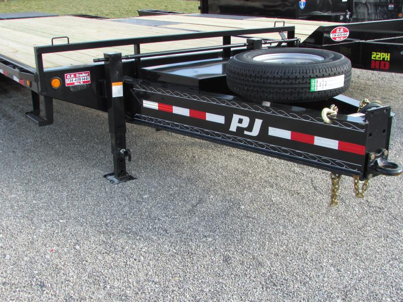 2018 PJ Trailers 25 Equipment w/Monster Ramp Flatbed Trailer