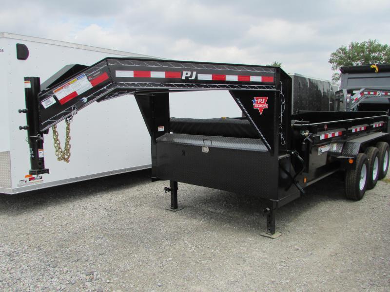 2020 PJ Trailers 16 ft Gooseneck Tri Axle Dump Trailer