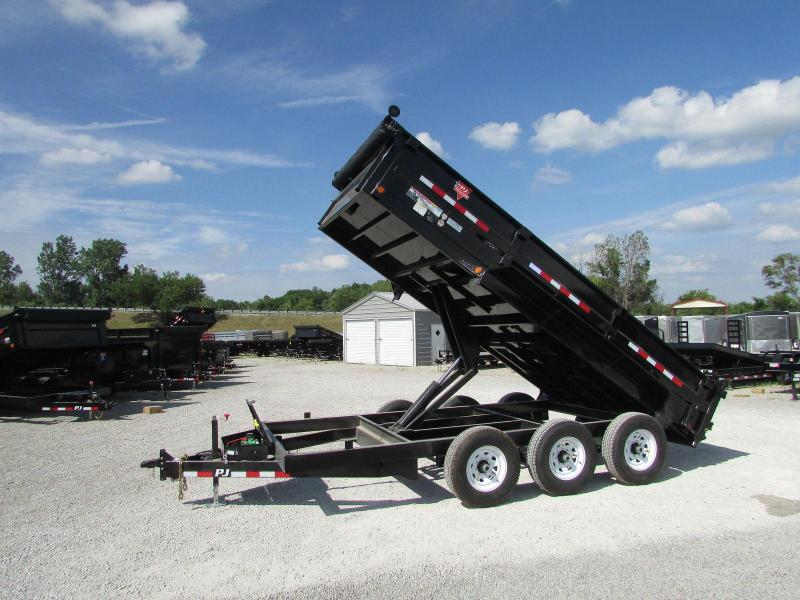 2018 PJ Trailers Tri Axle Pintle Dump Trailer