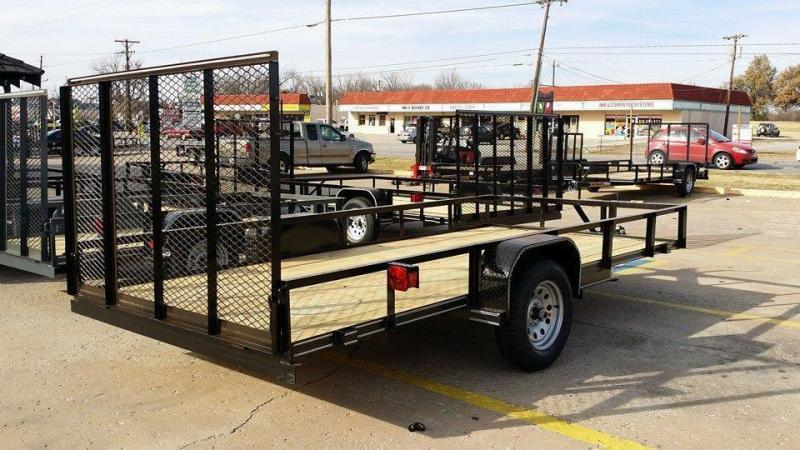 Tiger 77x14 Utility Trailer w/ Rear Rampgate Black