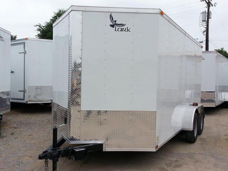 Lark 2018 7 x 14 Enclosed Cargo Trailer V-nose