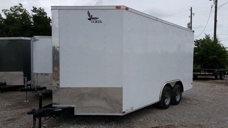 2018 Lark 8.5 x 16 Enclosed Cargo Trailer V-Nose