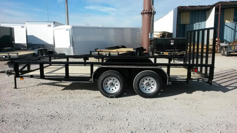 77 x 16 Pipetop Utility Trailer w/ Ramp Gate Tandem 3500#
