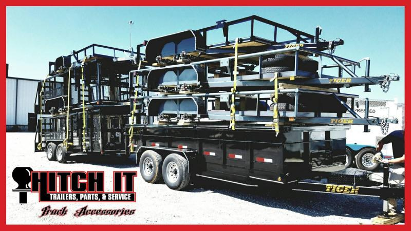 Black 77x16 Pipetop Utility Trailer w/ Ramp Gate Bulldog and Brakes