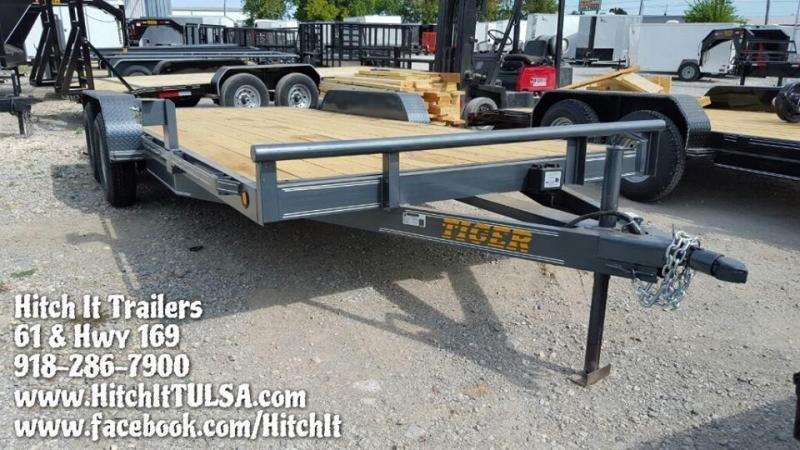 CHARCOAL 83 x 18 Flatbed Car Hauler Trailer