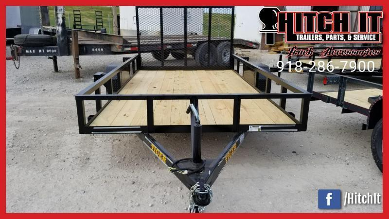 Tiger 77 X 12 Single Axle Utility Trailer w/ Ramp Gate 3500 lb axles